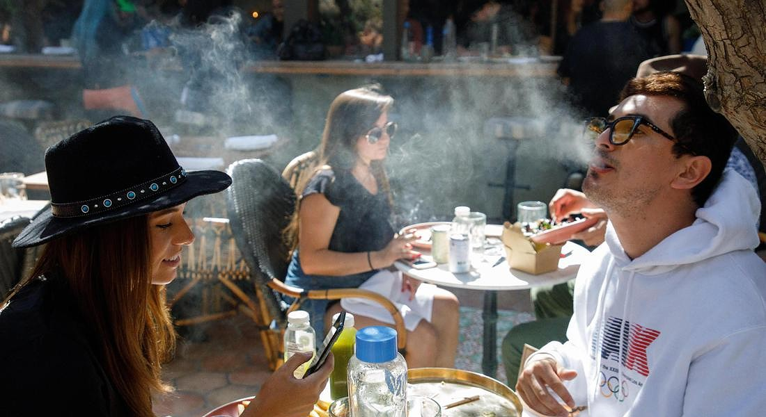 First Cannabis Cafe in the US opens in West Hollywood © EPA