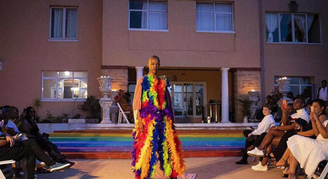 Gay Pride fashion show in Johannesburg © EPA