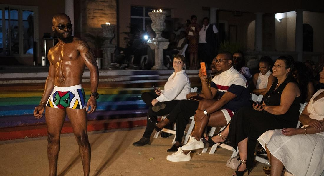 Gay Pride fashion show in Johannesburg © EPA
