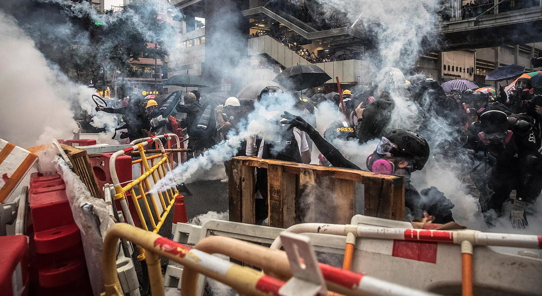 Le proteste anti governative ad Hong Kong - 2019 © EPA
