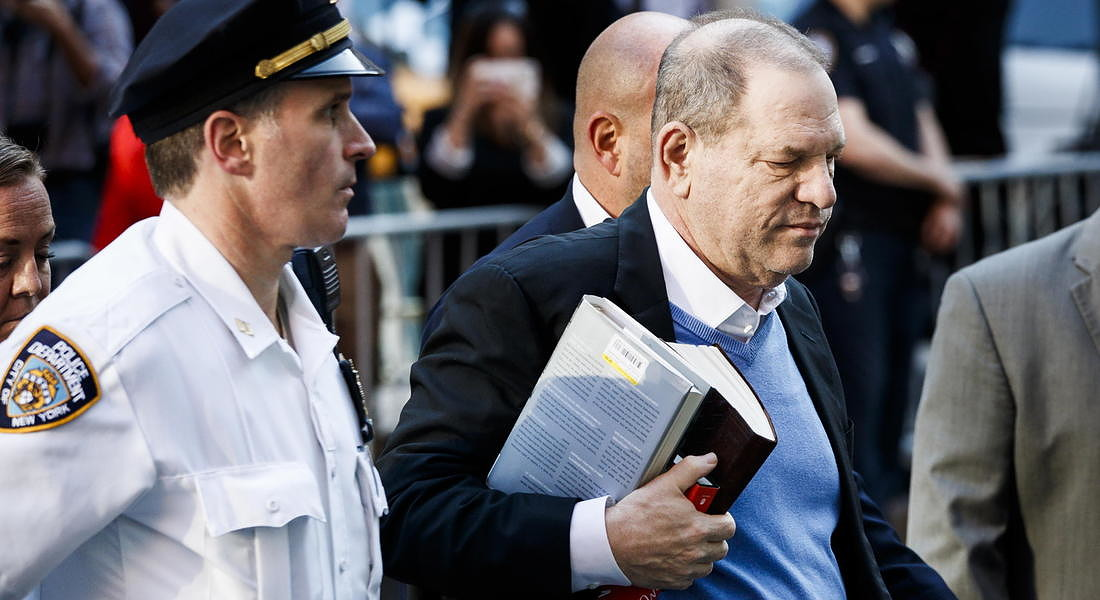 Il potente produttore cinematografico Harvey Weinstein arrestato a New York - 2018 © EPA