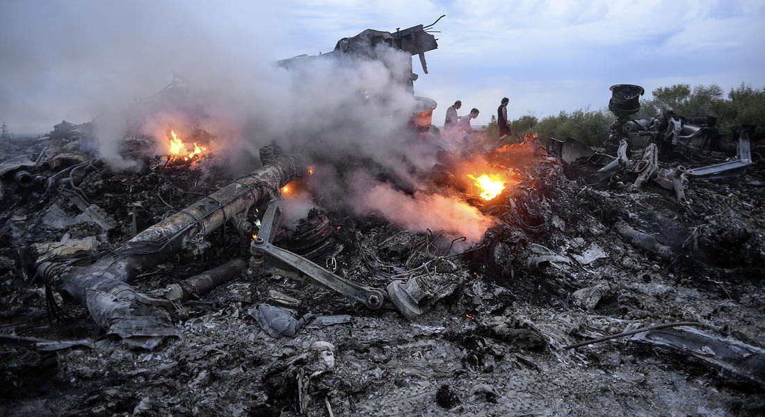 Malaysia Airlines plane crashes in eastern Ukraine - 2014 © EPA