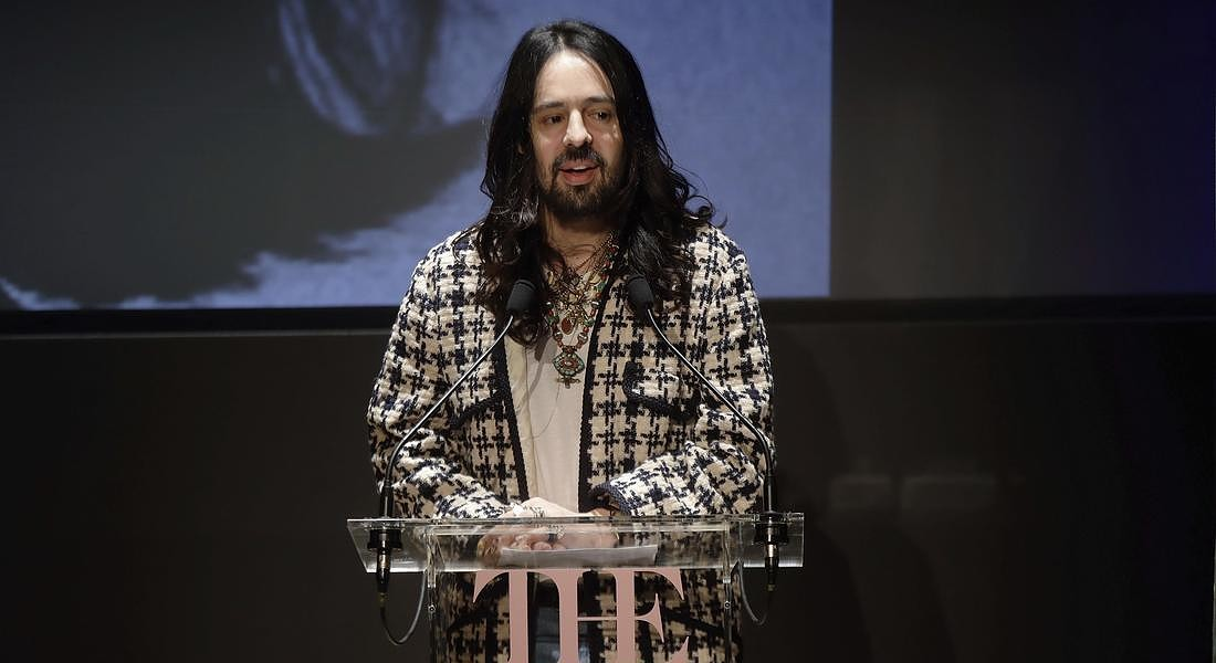 Alessandro Michele di Gucci presenta Camp: Notes on fashion, la mostra al Met di New York dal 9 maggio all'8 settembre © AP