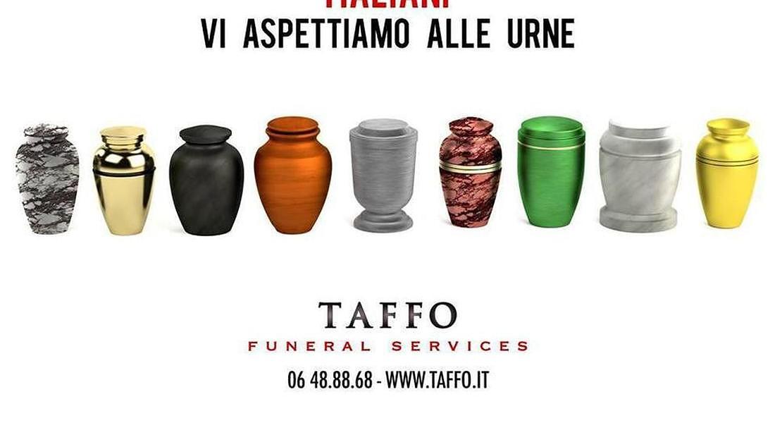 Campagne pubblicitarie umoristiche per servizi funebri, antesignano Taffo Funeral Services © ANSA
