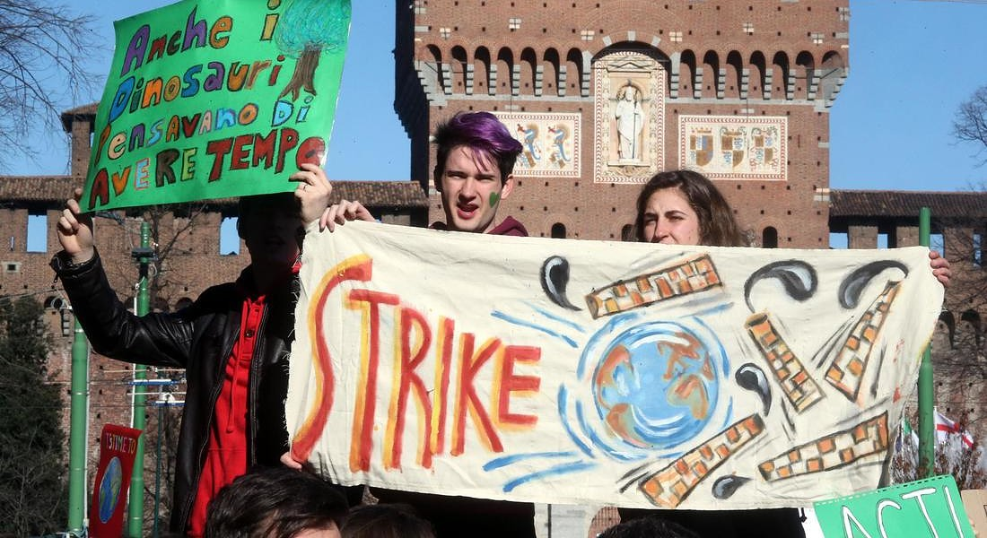 'Global climate strike' in Milan © ANSA