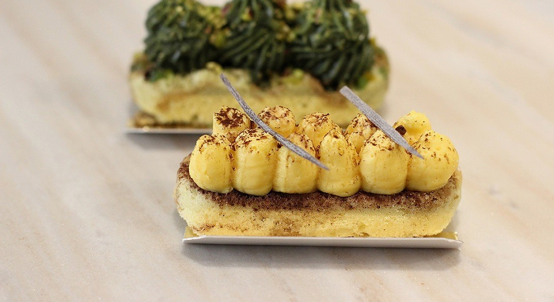 Tiramisù formato strip da Mascherpa a Milano (foto courtesy Just Eat) © Ansa