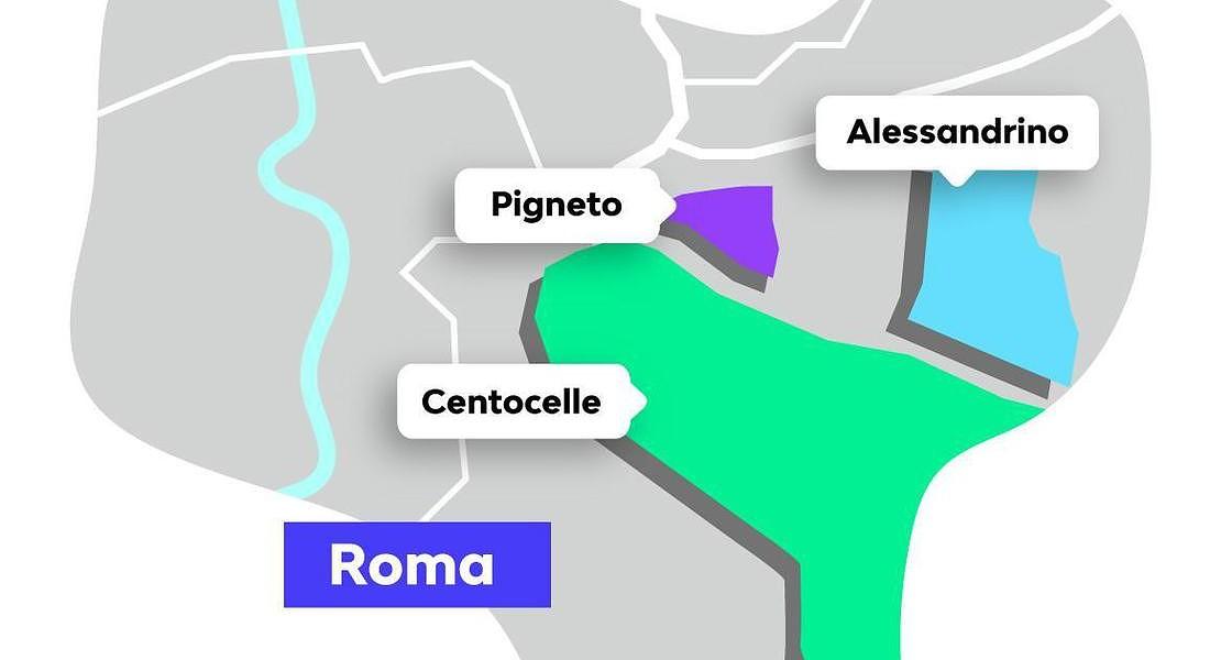 Roma, la mappa delle zone emergenti secondo le ricerche su Badi © ANSA
