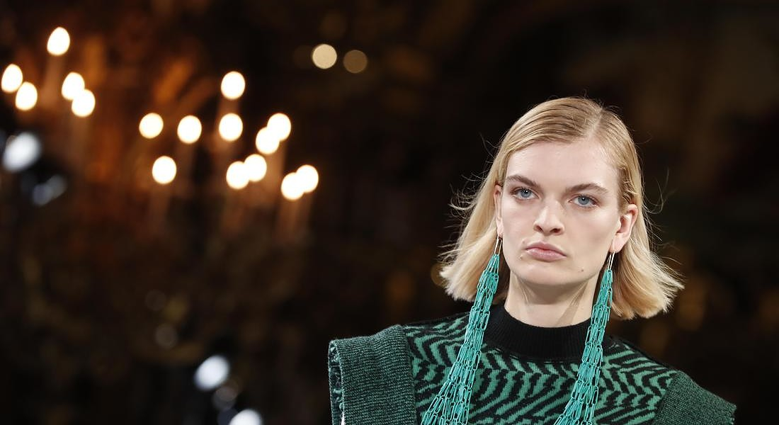 Paris Fashion 2019 F/W Stella McCartney . Sustainable luxury fashion‎ © AP