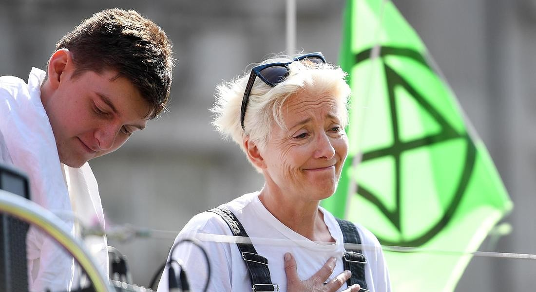 Emma Thompson partecipata alla protesta di Extinction Rebellion © EPA