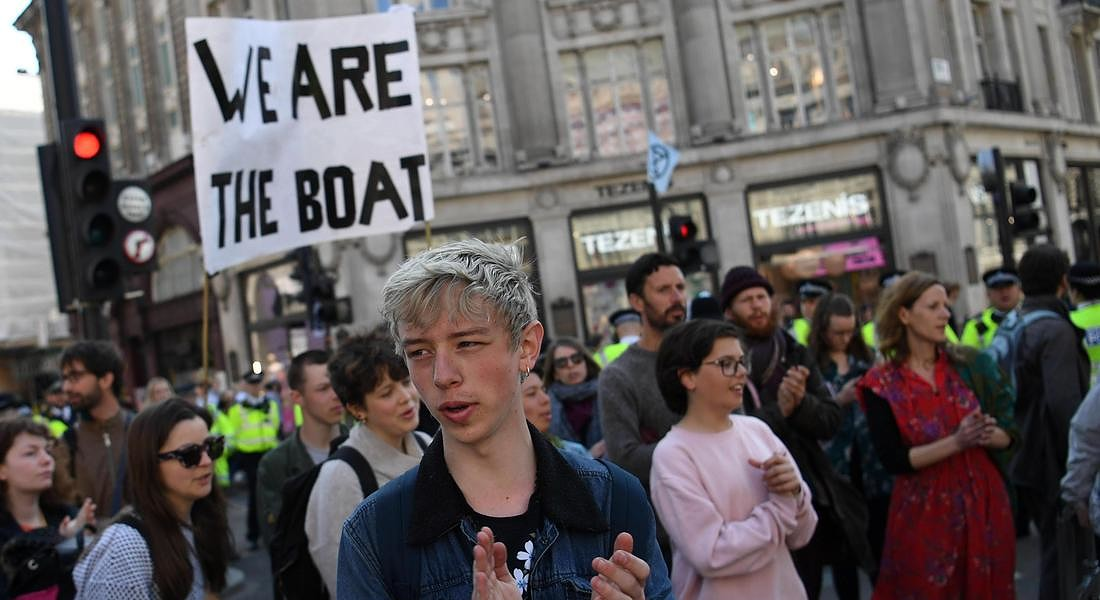 Climate Change protests across London © EPA