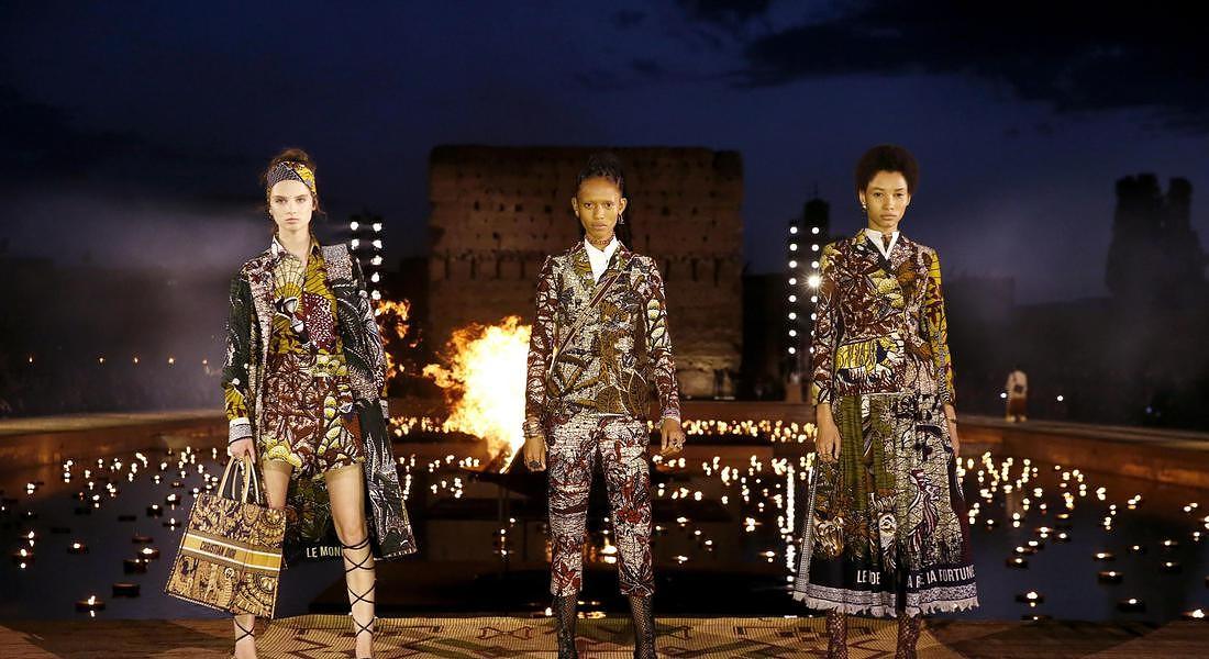 La collezione Dior Cruise 2020 parte dai tessuti wax © ANSA