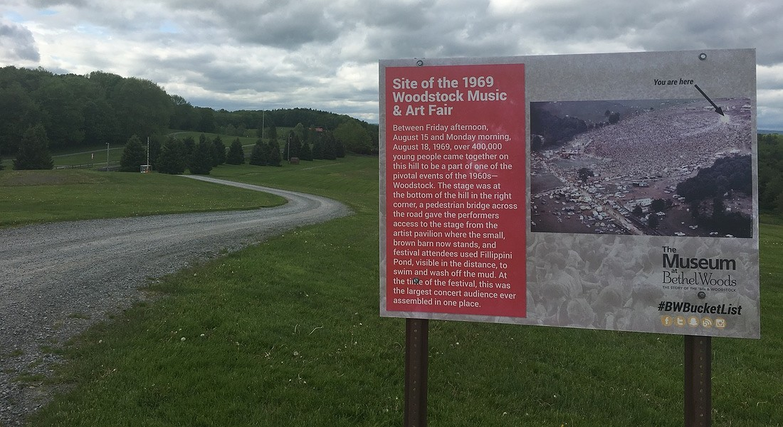 La collina di Bethel - Woodstock oggi. foto di Gina Di Meo © Ansa