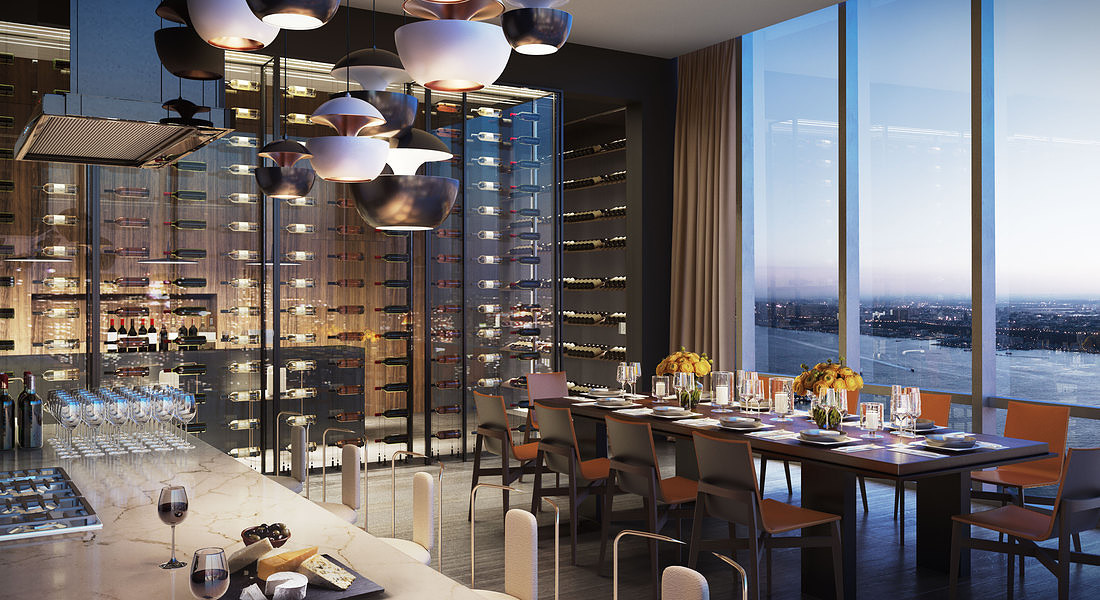 15 Hudson Yards Chef's Kitchen and Wine Tasting Room - courtesy of Related-Oxford © Ansa
