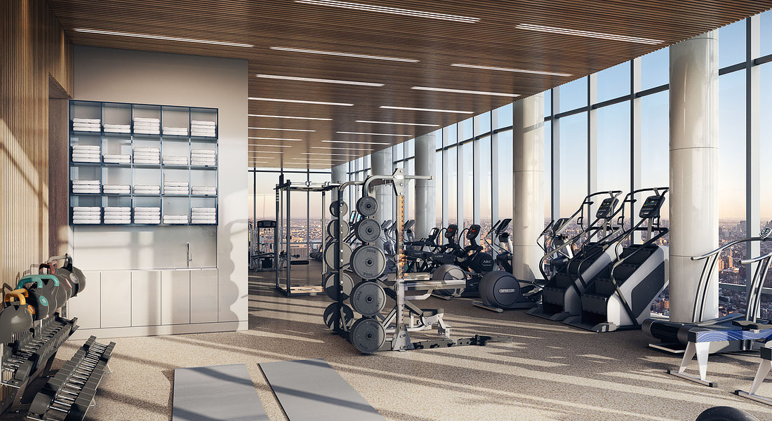 15 Hudson Yards Fitness Center - courtesy of Related-Oxford © Ansa