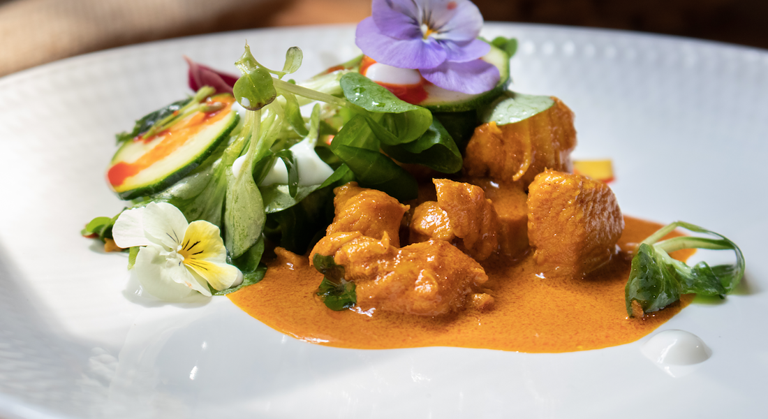 "Le Ricette di Valerio Braschi ideate per il workshop ""Food Photography"". . Ricetta ""Curry di pollo"" © Ansa"