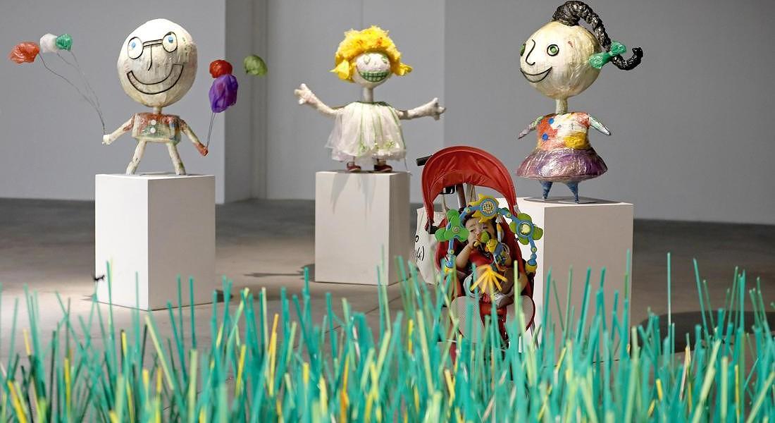 'Plastic Planet' exhibition in Hanoi © EPA