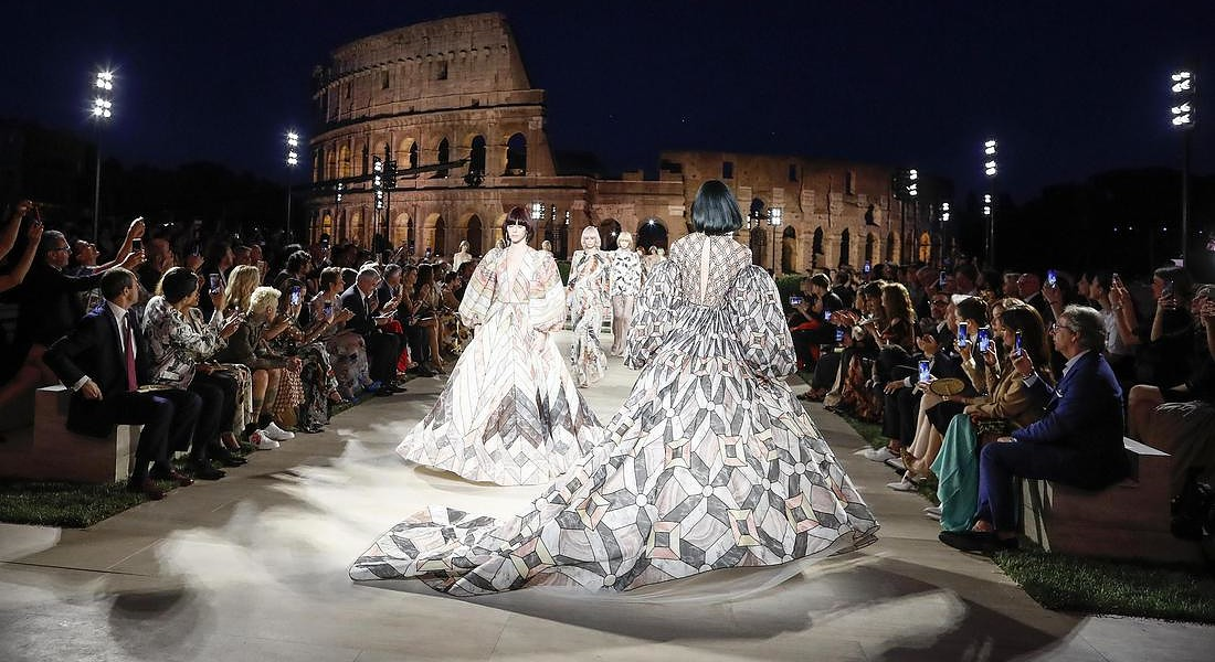 Fendi: tribute to its historic creative director, Karl Lagerfeld © ANSA