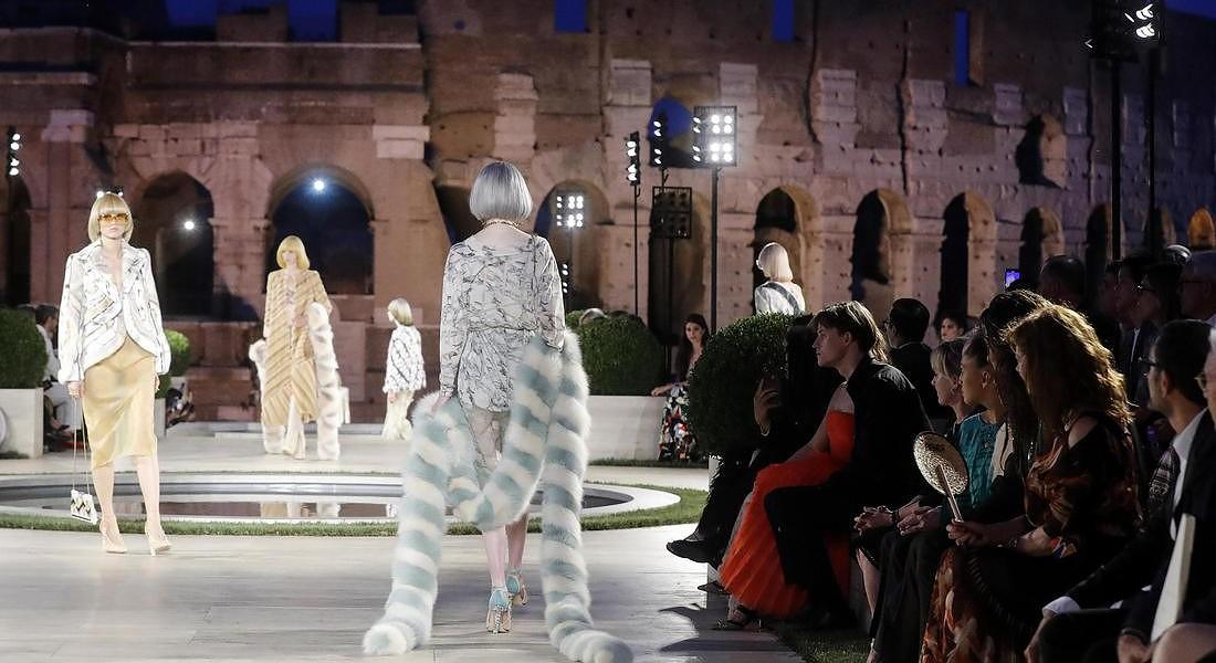 Fendi tribute to Karl Lagerfeld © ANSA