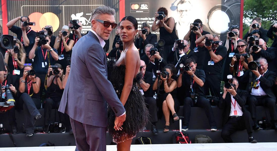 76th Venice International Film Festival: French actor Vincent Cassel (R) and Tina Kunakey © ANSA