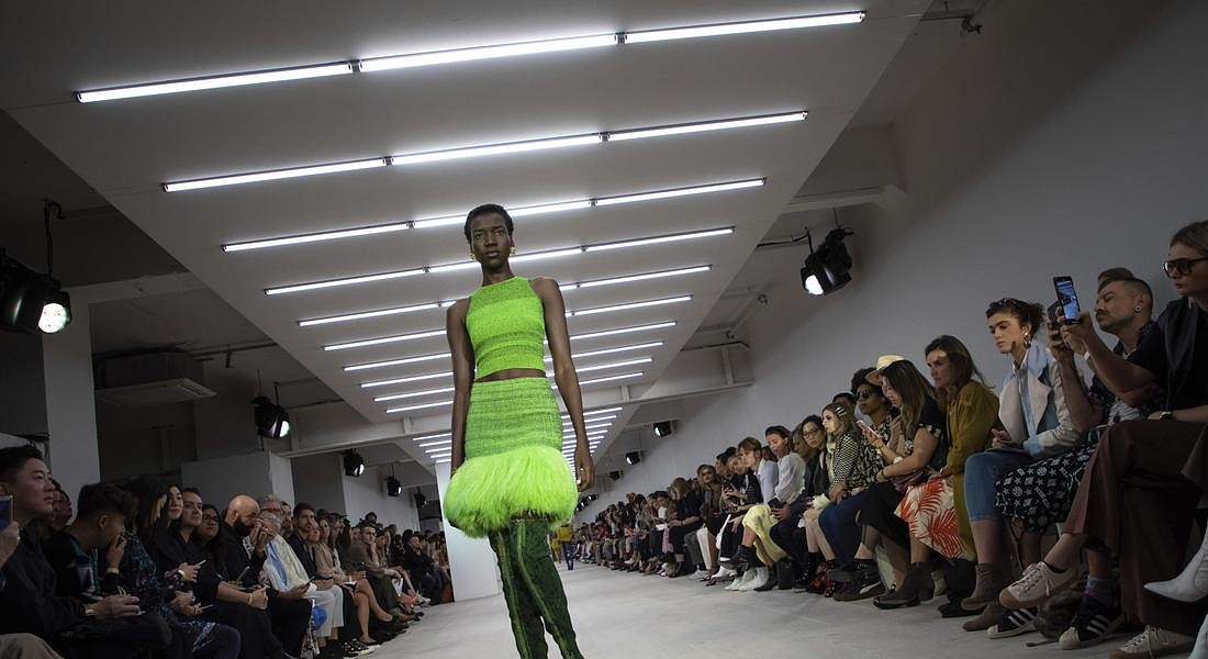 Britain London Fashion S/S 2020 Mark Fast © AP
