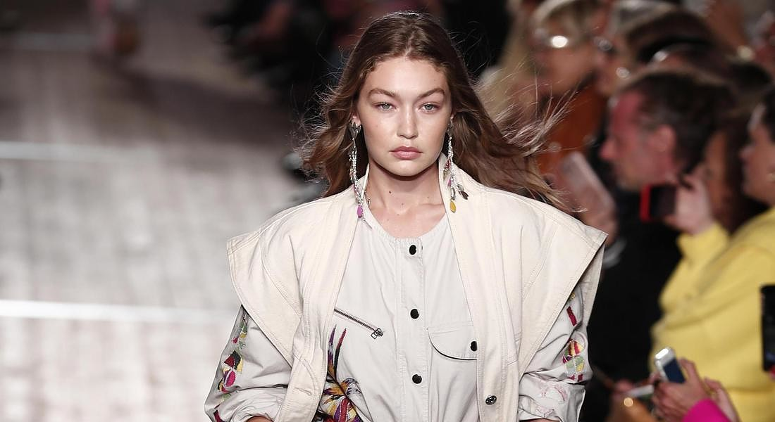Gigi Hadid sfila per Isabelle Marant - Runway - Paris Fashion Week S/S 2020 © EPA