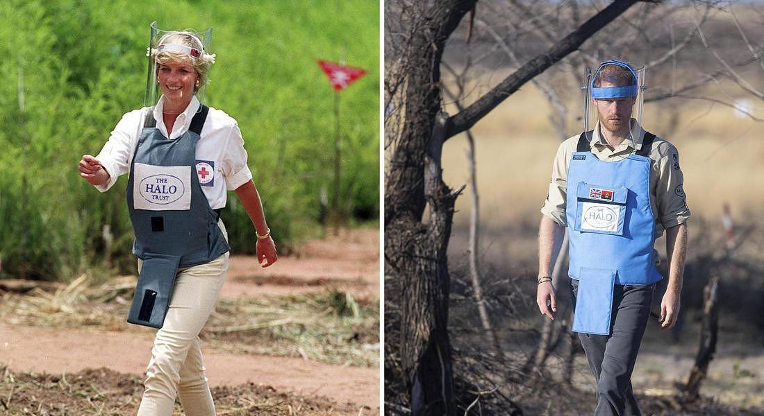 Harry sulle orme di Diana, in Angola contro le mine antiuomo © ANSA