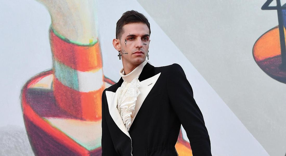 76th Venice International Film Festival Italian singer Achille Lauro arrives for a premiere of 'Happy Birthday' © ANSA