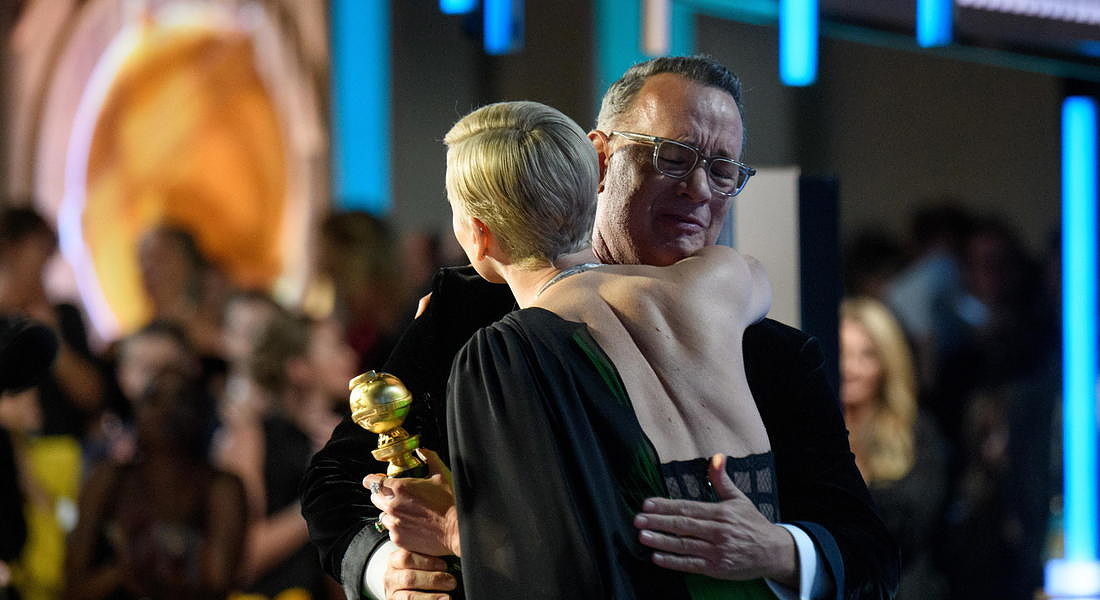 Ceremony - 77th Golden Globe Awards  Charlize Theron presenting the Cecil B. DeMille Award to Tom Hanks © EPA