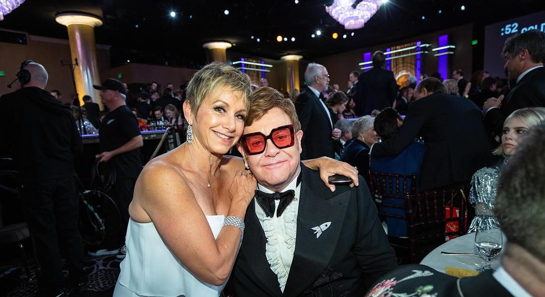Ceremony - 77th Golden Globe Awards: Gabrielle Carteris and Elton John © EPA