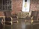 Badgley Mischka Home Monterey Sled Lounge Chairs (ANSA)