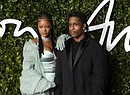 Barbadian singer Rihanna (L) and US rapper ASAP Rocky (R) arrive for The Fashion Awards  at the Royal Albert Hall in Central London (ANSA)