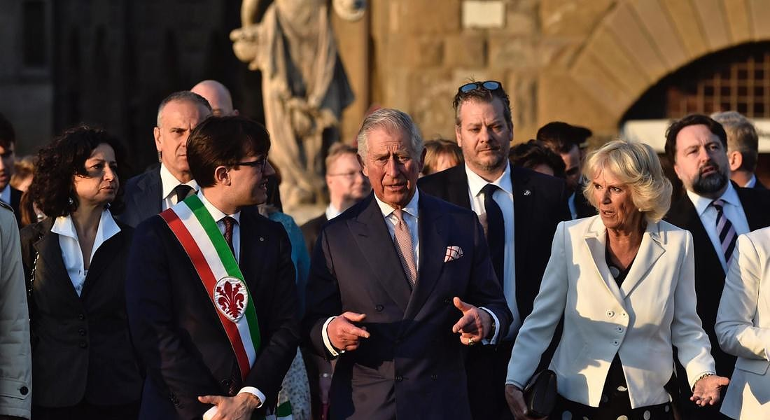 Prince Charles and Camilla arrive in Florence © ANSA
