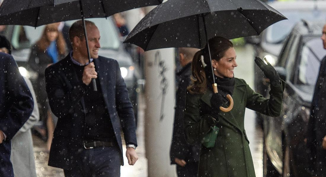 Prince William and Catherine Duchess of Cambridge visit Blackpool © EPA