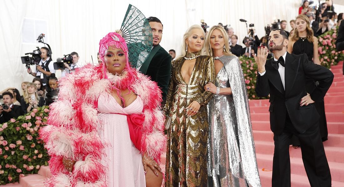 Lizzo, Char Defrancesco, Rita Ora, Kate Moss and Marc Jacobs arrive on the red  carpet for the 2019 Met Gala at the Metropolitan Museum of Art © EPA