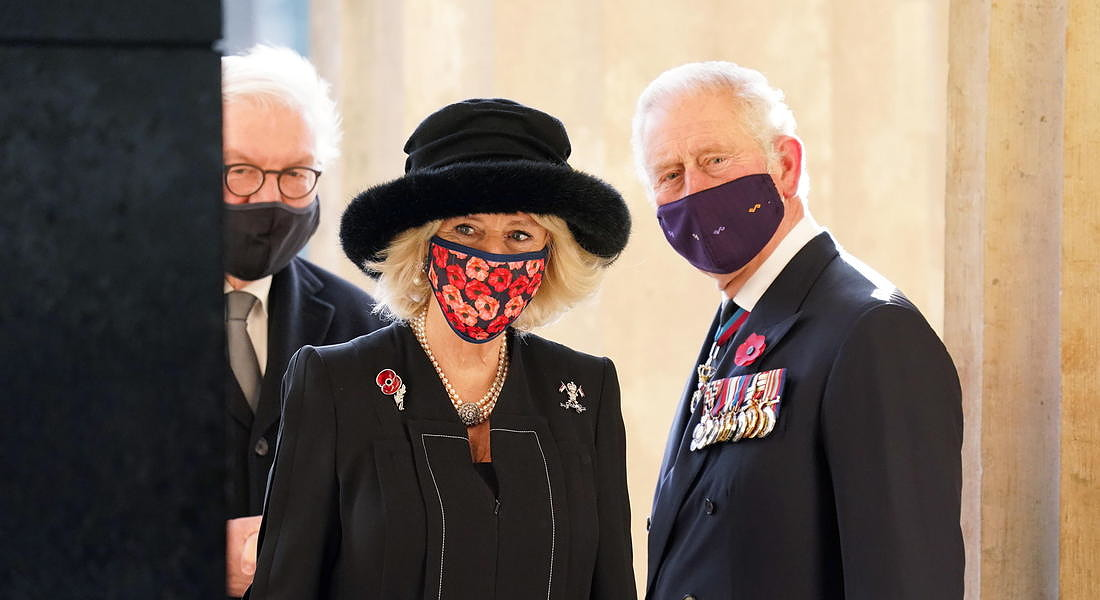 Prince Charles And Camilla visit Berlin To Attend National Mourning Day Events © EPA