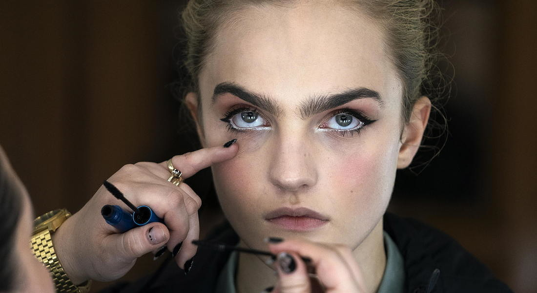 Richard Quinn - Backstage - London Fashion Week Autumn Winter collections © EPA