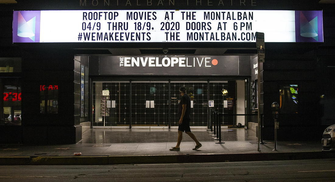 The Cinelounge Rooftop Cinema at the Montalban reopens in Hollywood © EPA