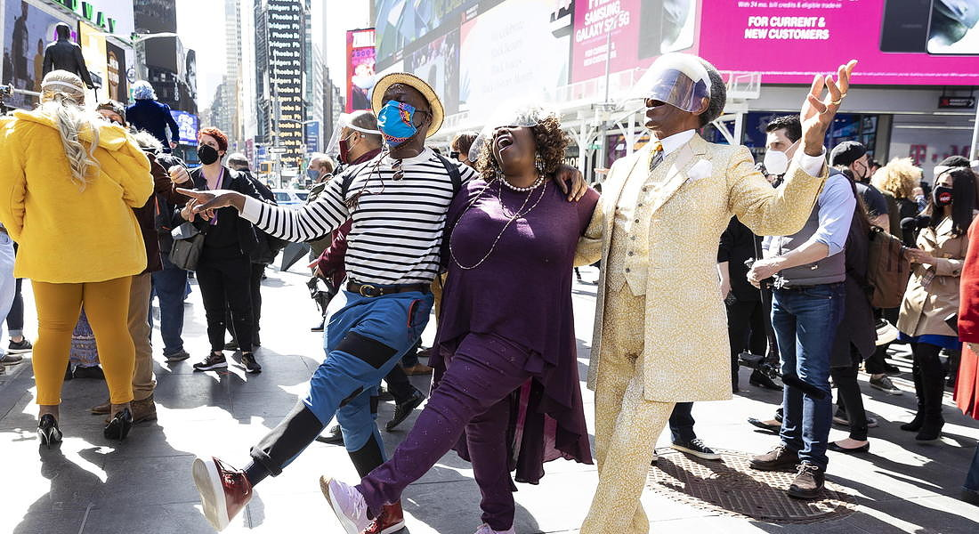 Pop-Up Broadway Performance in Times Square © EPA