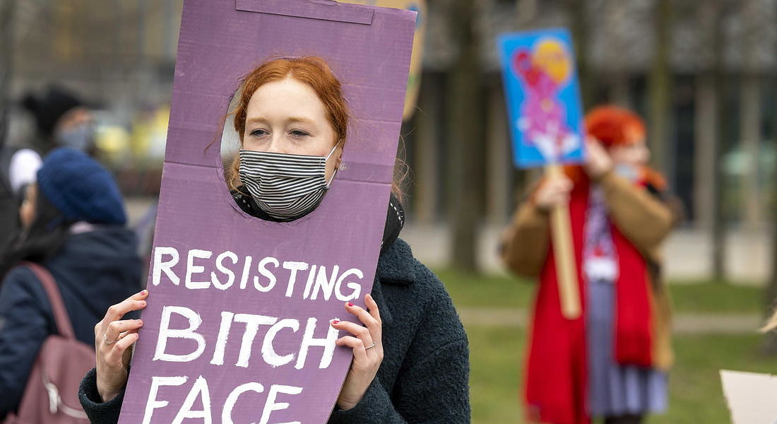 Annual Women's March rally in Amsterdam © EPA