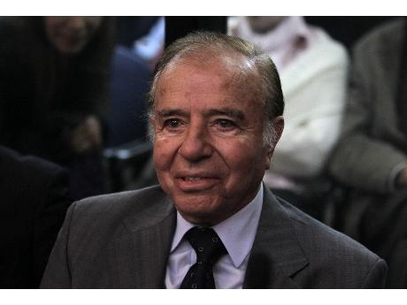 Ex presidente argentino Carlos Menem  (ANSA).
