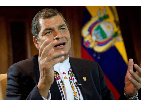 Presidente ecuatoriano, Rafael Correa  (ANSA).