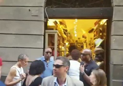 Shopping a Siena per Michelle Obama