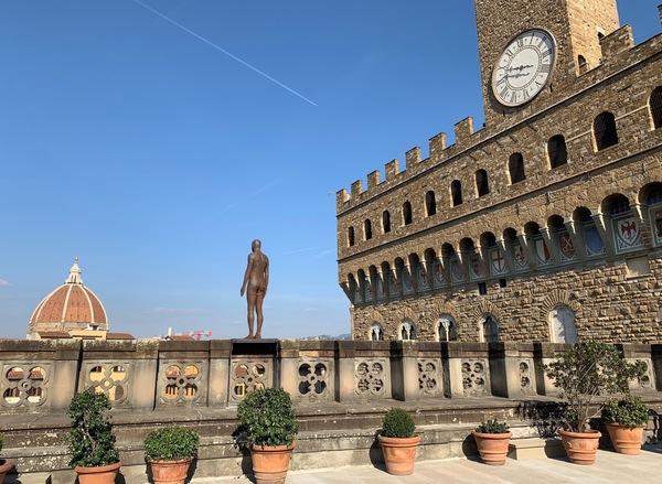 Gormley, una scultura 'assaggio' della mostra a Firenze