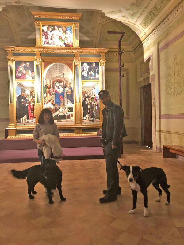 Museo di Recanati 'dog welcome'