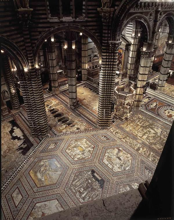 Duomo Siena, torna visibile pavimento