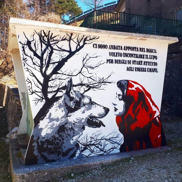 Street Art, in Abruzzo c'è il lupo buono