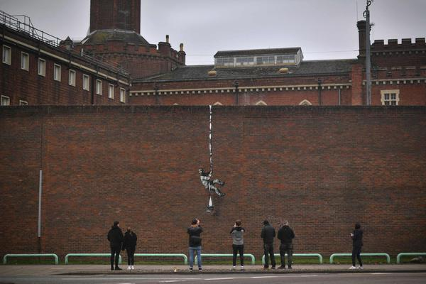 BRITAIN-ART-BANKSY © AFP