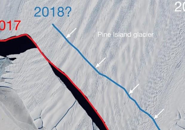 Antartide, si sta staccando un'altro iceberg gigante