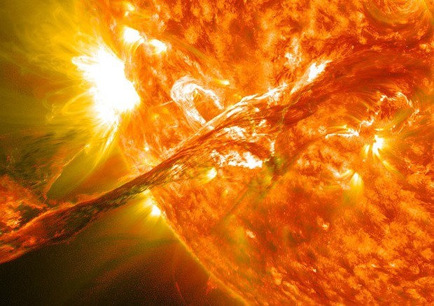 Un'eruzione solare (fonte: NASA Goddard Space Flight Center) © Ansa