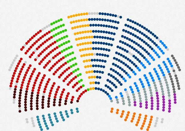 Cartina Italia Interattiva Html.Mappa Interattiva Dei Posti Dell Emiciclo Del Parlamento Europeo News Ansa It